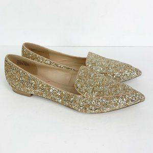 Sole Society Cammila Light Champagne Glitter Flats
